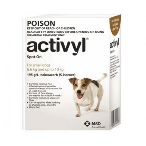Activyl for Dogs 14-22lb (6.6-10kg) 6 Pack