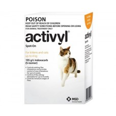 Activyl for Small Cats 3.3-8.8lb (1.5-4kg) 6 Pack