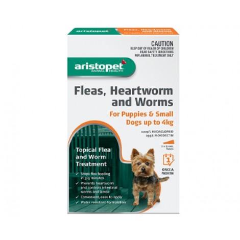 Aristopet Flea & Worm Spot On Dog 4-10kg 6 Pack