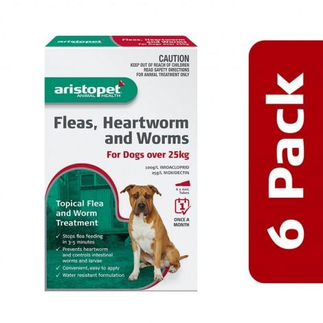 Aristopet Flea & Worm Spot On Dog over 25kg 6 Pack
