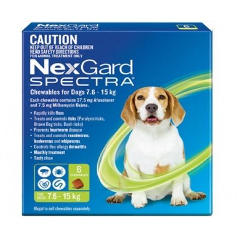Nexgard Spectra Green Medium Dog