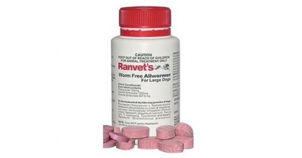 Ranvet Allwormer Tablets 25kg 55lb Dogs Amp Puppies