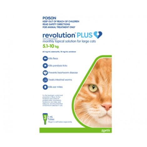 Revolution Plus Large Cat Green