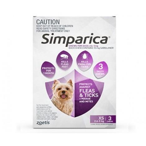 Simparica Purple Extra Small
